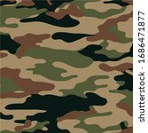military camouflage pattern... | Shutterstock .eps vector #1686471877
