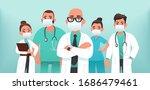 team of doctors in protective... | Shutterstock .eps vector #1686479461