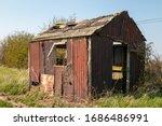 Derelict Abandoned Shed Falling ...