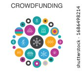 crowdfunding infographic circle ...
