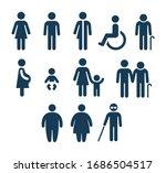 people figures icon set.... | Shutterstock . vector #1686504517