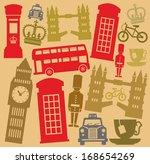 vector uk icon set | Shutterstock .eps vector #168654269