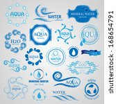 water and drop icons set  ... | Shutterstock .eps vector #168654791