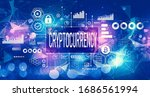 cryptocurrency theme with...   Shutterstock . vector #1686561994