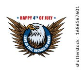 4th of july label design.... | Shutterstock .eps vector #1686567601