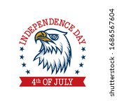 4th of july label design.... | Shutterstock .eps vector #1686567604
