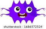 Microbe Purple Cartoon...