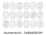 Easter Eggs Coloring Page For...