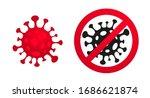 coronavirus  2019 ncov  covid... | Shutterstock .eps vector #1686621874