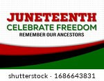 juneteenth freedom day. african ... | Shutterstock .eps vector #1686643831
