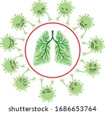 concept   human lungs against...   Shutterstock .eps vector #1686653764