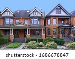 Street Of Old Brick Houses With ...