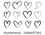 vector heart shape frame with... | Shutterstock .eps vector #1686697261
