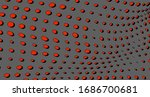 abstract halftone red dots.... | Shutterstock .eps vector #1686700681