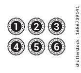 set of minimalist 1  2  3  4  5 ... | Shutterstock .eps vector #1686739141