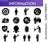 information filled icon set on... | Shutterstock .eps vector #1686748894