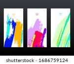 set of vector design templates. ... | Shutterstock .eps vector #1686759124