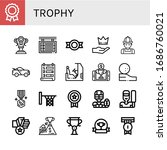 set of trophy icons. such as... | Shutterstock .eps vector #1686760021