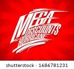 mega discounts hurricane sale... | Shutterstock . vector #1686781231