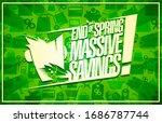 end of spring massive savings ... | Shutterstock . vector #1686787744