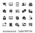 vector set of online education... | Shutterstock .eps vector #1686789754