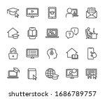 vector set of online education... | Shutterstock .eps vector #1686789757