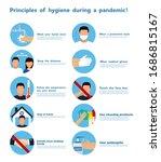 hand sanitizers. coronavirus... | Shutterstock .eps vector #1686815167