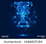 a hologram award. award from... | Shutterstock .eps vector #1686825184