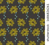 bright floral seamless pattern...   Shutterstock .eps vector #1686826261