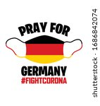 pray for germany   fight corona ... | Shutterstock .eps vector #1686842074