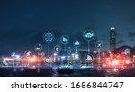 smart city and internet concept ...   Shutterstock . vector #1686844747