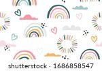 seamless vector pattern with... | Shutterstock .eps vector #1686858547