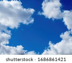 White Puffy Clouds And A Bright ...