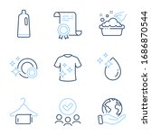 clean t shirt  hand washing and ... | Shutterstock .eps vector #1686870544