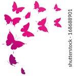 Stock vector butterflies design 168688901