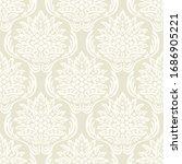 damask flower pattern in vector ... | Shutterstock .eps vector #1686905221