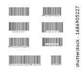 simple bar code set. universal... | Shutterstock .eps vector #1686905227