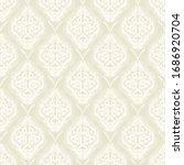 damask flower pattern in vector ... | Shutterstock .eps vector #1686920704