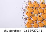 easter cookies in the form of... | Shutterstock . vector #1686927241