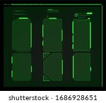 warning frame. abstract tech... | Shutterstock . vector #1686928651