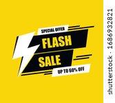 flash sale discount banner or...   Shutterstock .eps vector #1686932821