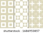 set of seamless geometric... | Shutterstock .eps vector #1686953857