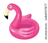 inflatable mattress vector icon....   Shutterstock .eps vector #1686957877