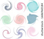 set of single colored... | Shutterstock .eps vector #1686960184