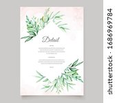wedding invitation template... | Shutterstock .eps vector #1686969784
