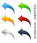 arrow icon set | Shutterstock .eps vector #168697331