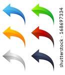 arrow icon set | Shutterstock . vector #168697334