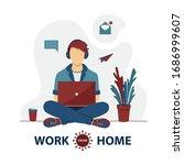 freelancer are working on... | Shutterstock .eps vector #1686999607
