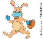 Easter Bunny In Surgical Mask...