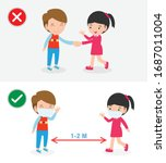 right and wrong ways and... | Shutterstock .eps vector #1687011004